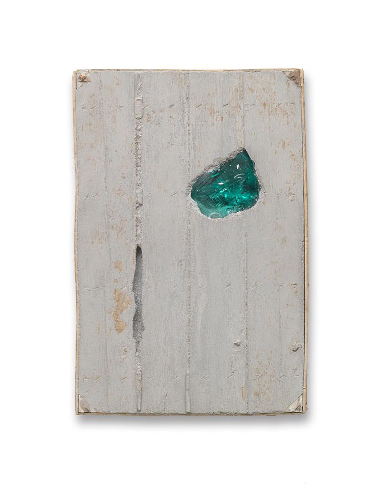 Ohne Titel / 2012 / Beton, Glas, Holz / 60 cm x 40 cm x 5 cm / Foto: Wolfgang Günzel