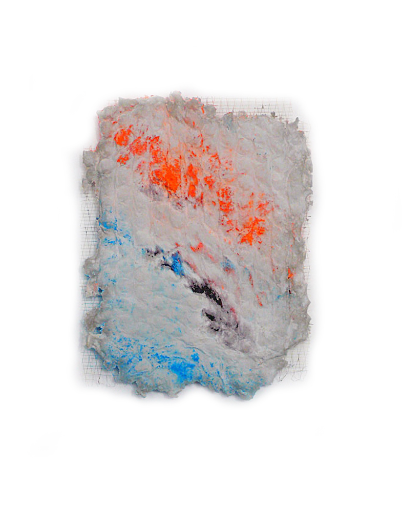 sunset / 2015 / Beton, Pigmente, Hanffasern / Concrete, pigments, hemp, fibres / 45 cm x 34 cm / Foto: Anne Lina Billinger